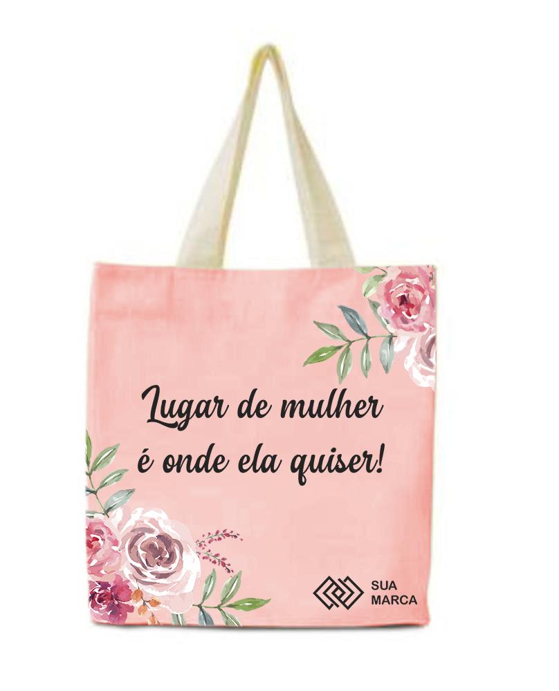 Ecobag nylon_dia das mulheres 2021_alça branca