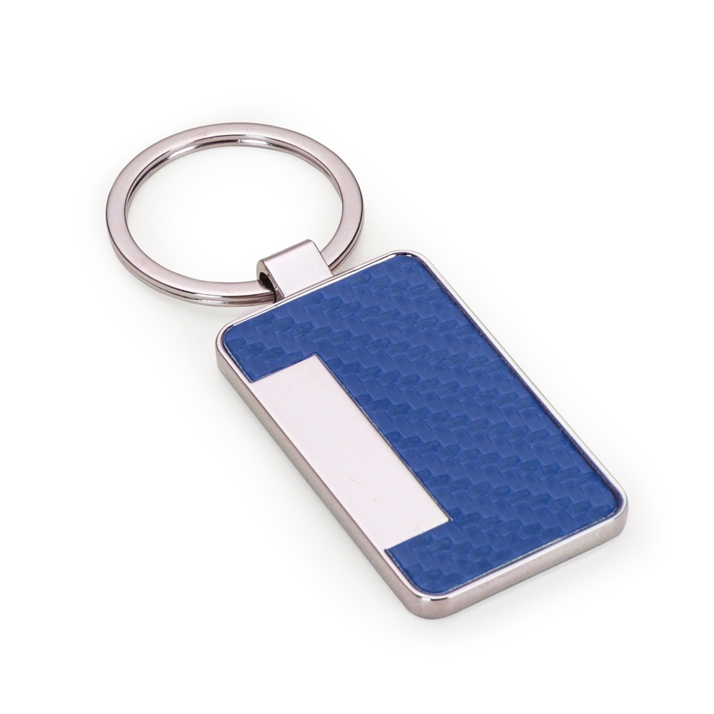 chaveiro personalizado metal azul