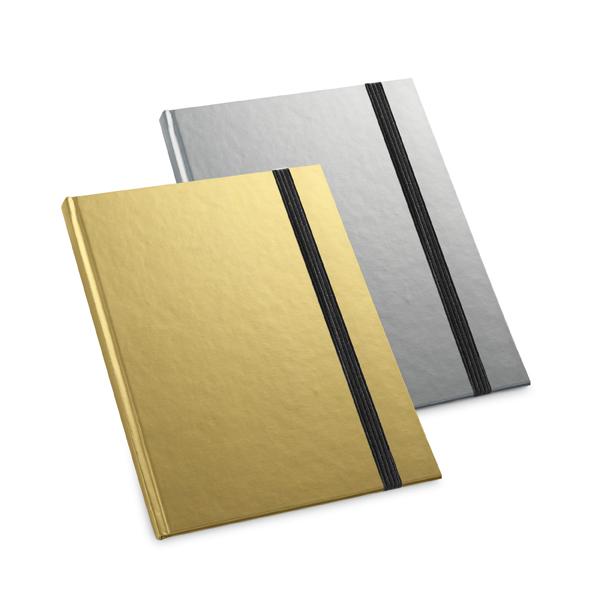 caderno metalizado personalizado