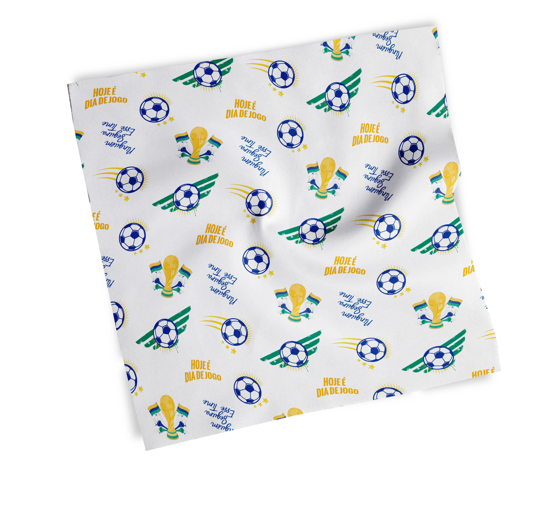 lenço estampado brasil