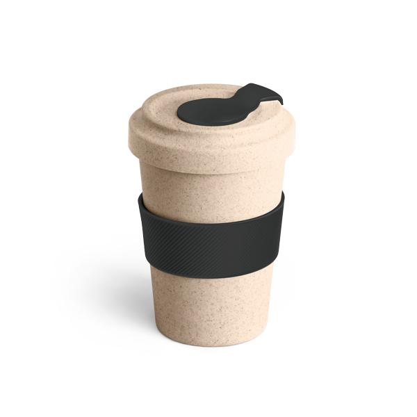 copo com tampa em silicone personalizado preto
