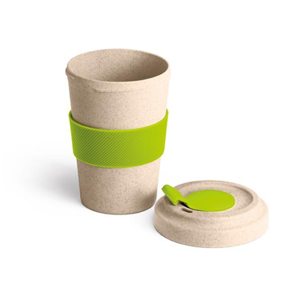 copo com tampa em silicone personalizado verde