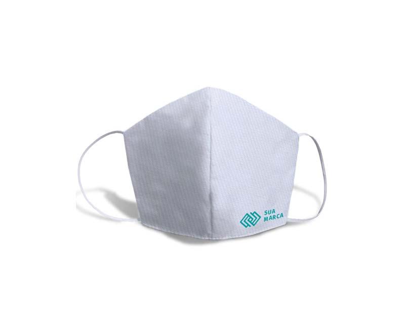 mascara de tecido fustao personalizada