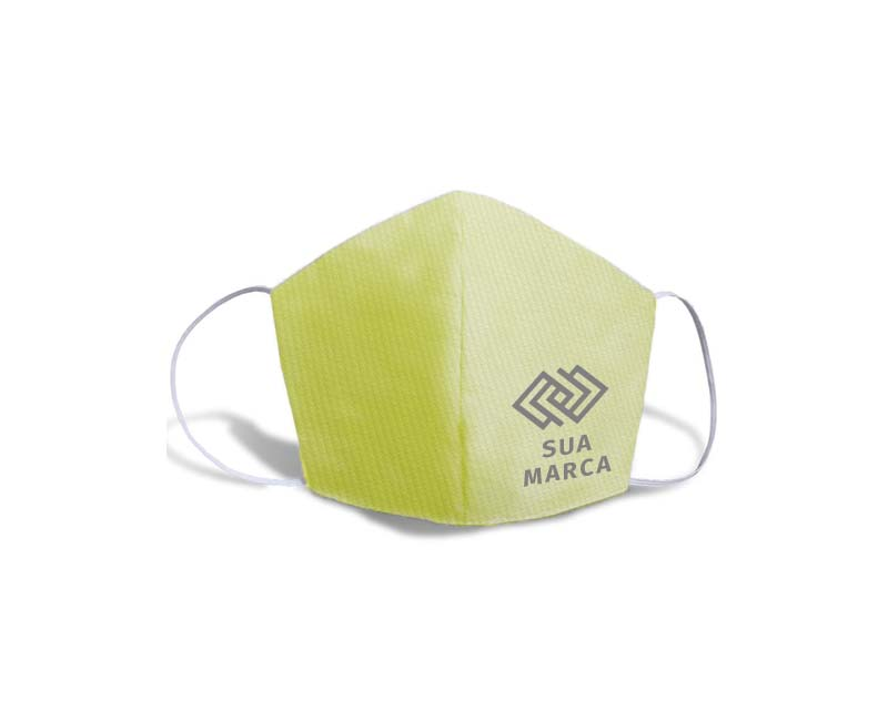 mascara fustao personalizada amarela 2