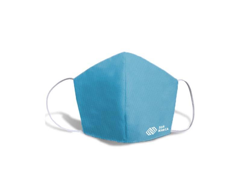 mascara fustao personalizada azul tur