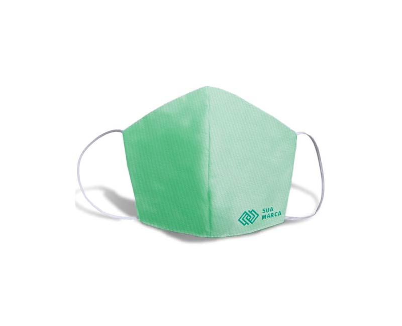 mascara fustao personalizada verde agua