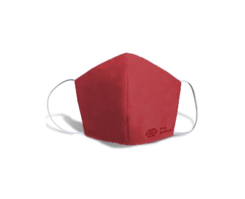 mascara fustao personalizada vermelha