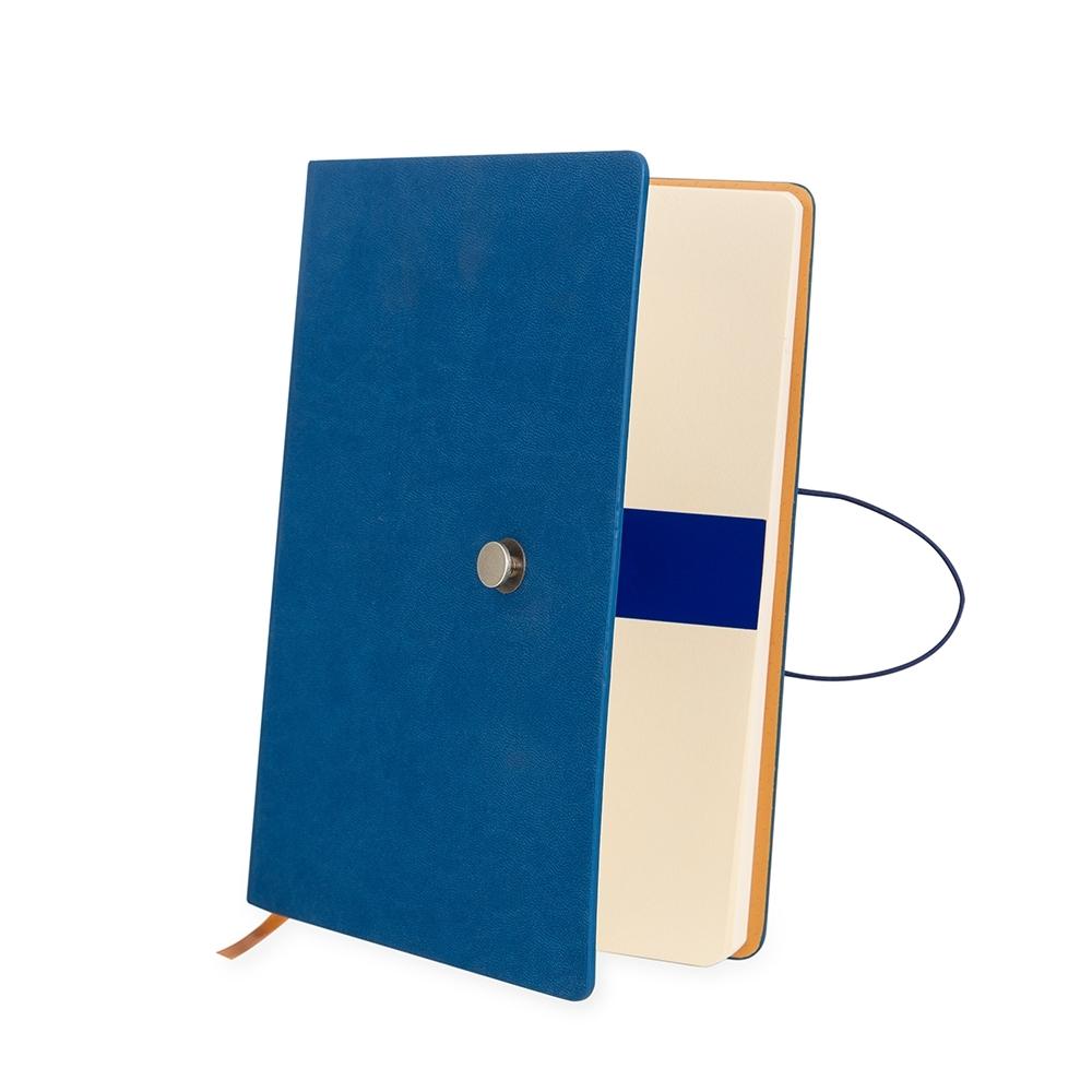 Caderneta Tipo Moleskine com Fecho Azul