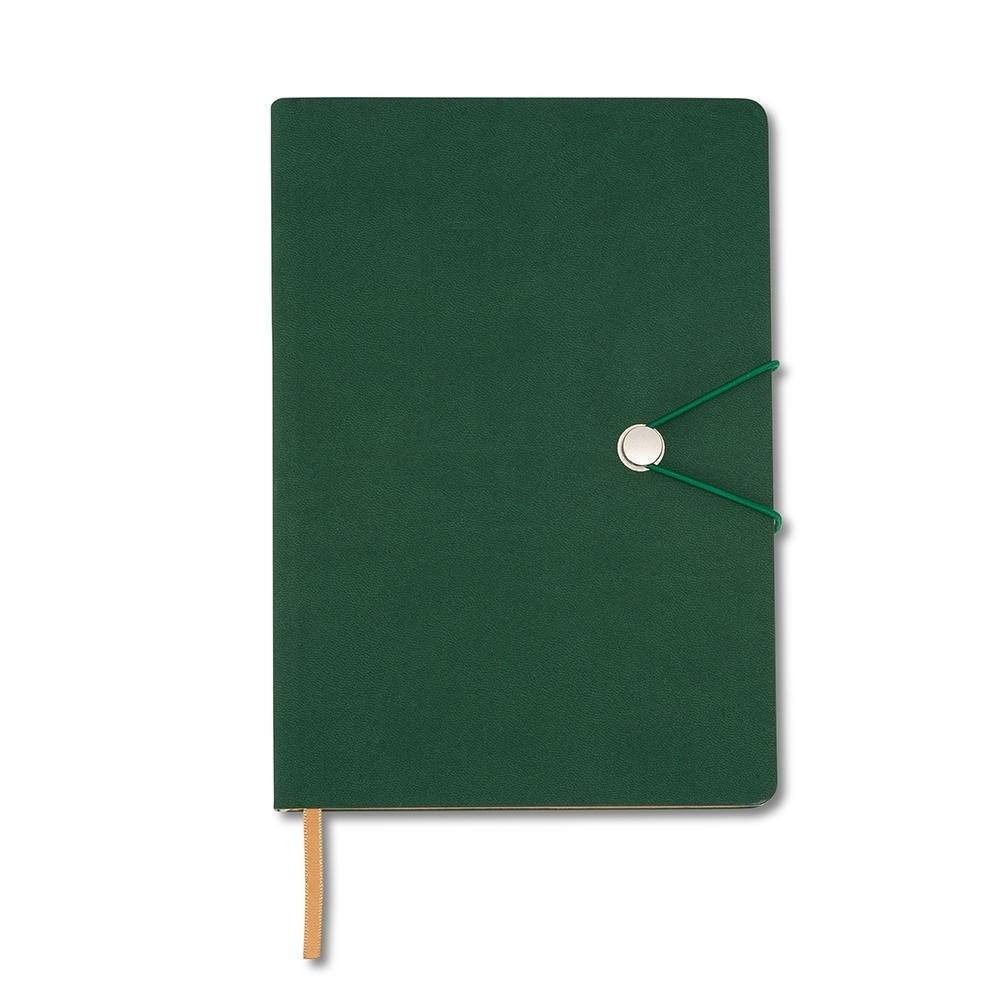 Caderneta Tipo Moleskine com Fecho VERDE
