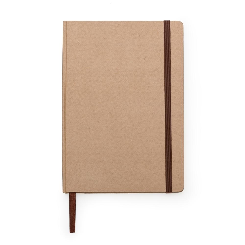 Caderneta tipo Moleskine..