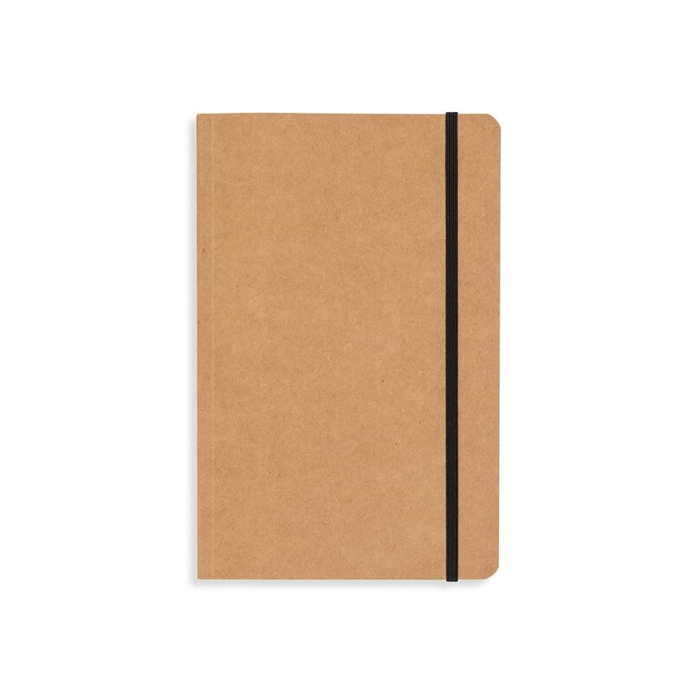 Caderneta tipo Moleskine.
