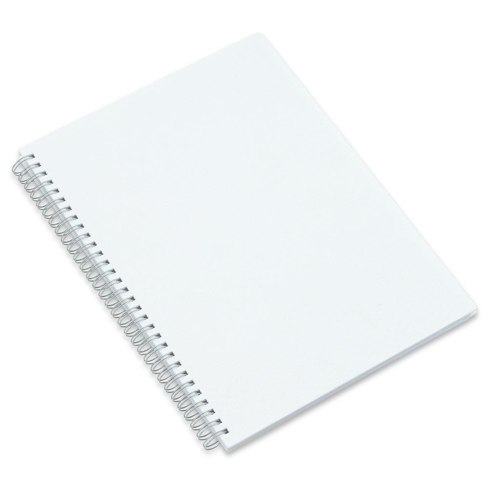 Caderno Capa Plastica Branco-