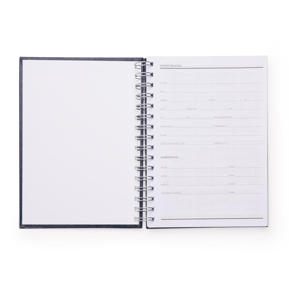 Caderno Pequeno de Couro Sintetico AZUL