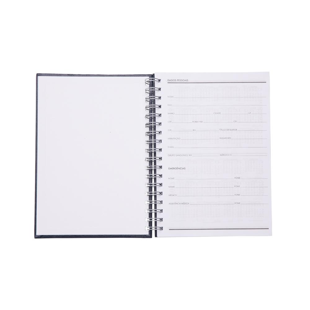 Caderno de Couro Sintetico AZUL