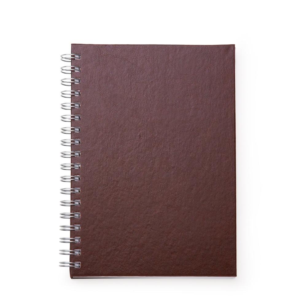 Caderno de Couro Sintetico MARROM
