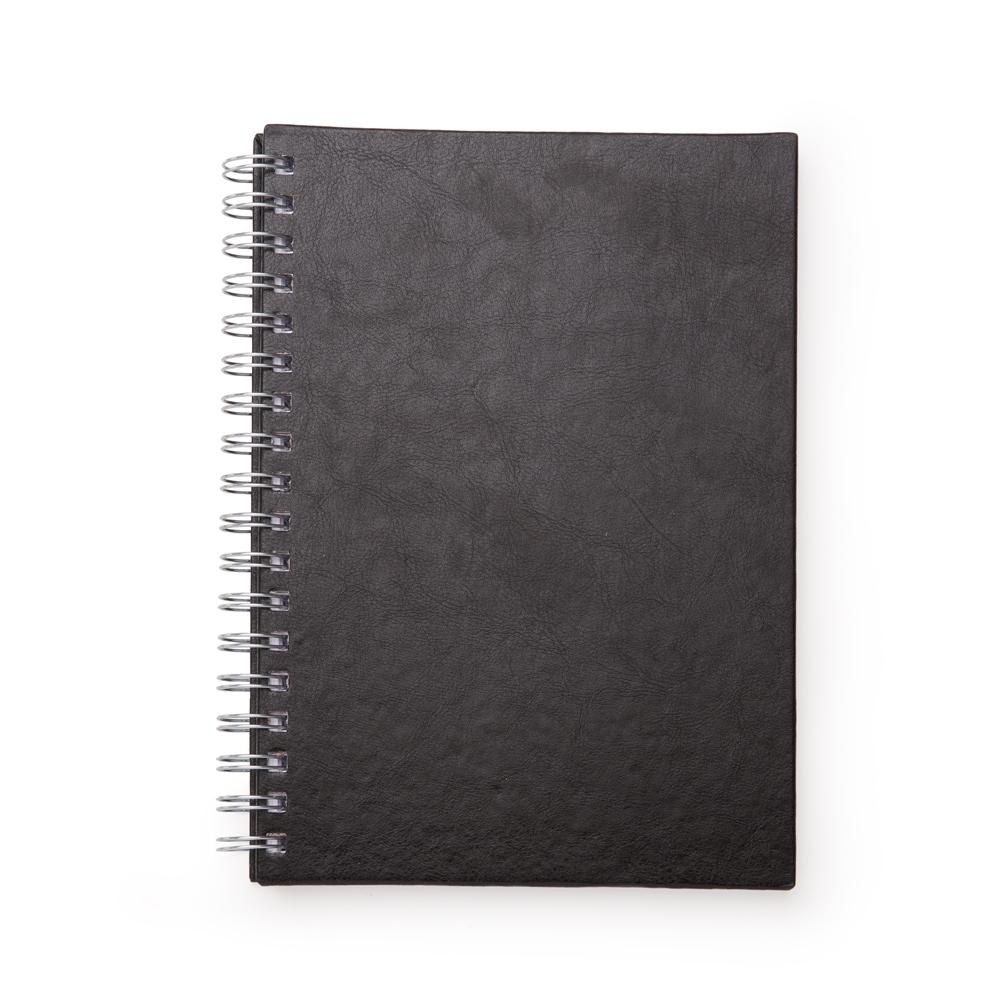 Caderno de Couro Sintetico PRETO