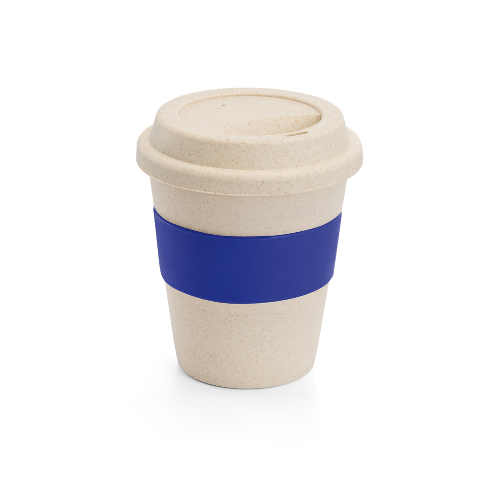 copo em fibra de bambu azul